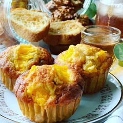 作り置きお菓子/カップケーキ/手作りお菓子/おやつ/ラク家事 オレンジとチョコチップのカップケーキ 🍊🍫(2枚目)