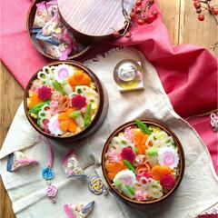 お花見/ひな祭り/おべんとう/お弁当/お昼/LIMIAごはんクラブ/... 花散らし寿司弁当