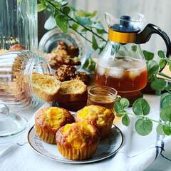 作り置きお菓子/カップケーキ/手作りお菓子/おやつ/ラク家事 オレンジとチョコチップのカップケーキ 🍊🍫(1枚目)