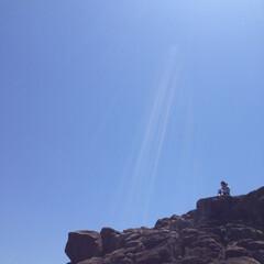 風景 海と飛行機雲