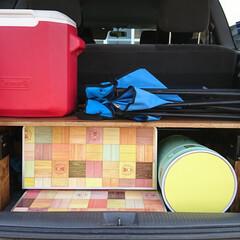 DIY/キャンプ/キャンプ用品/テーブル/ローテーブル/簡単/... ソーホースブラケットを使用した簡単ローテ…