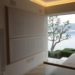 大画面テレビ/赤外線コントローラー 浜名湖リゾートマンションの大画面テレビ収納(1枚目)