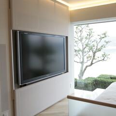 大画面テレビ/特殊家具金物/赤外線コントローラー 浜名湖リゾートマンションの大画面テレビの…