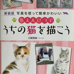 にゃんこ同好会/うちの猫/お絵描き この本を参考に絵を描いてます😊  猫の目…(1枚目)