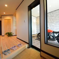 ビルトインガレージ/ガレージ/オートバイ/新築住宅/モデルハウス/土地探し ビルトインガレージのある家 有限会社すま…