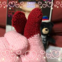 ファッション 平昌オリンピックの手袋で指ハート♥️ バ…