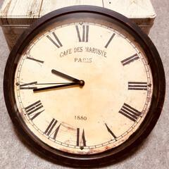 壁掛け時計/リメイク時計/時計盤/ダイソー/100均 皆さんの投稿を参考に、リメイク時計を作っ…
