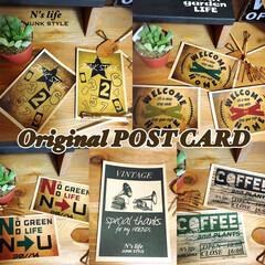 ポストカード/デザイン/オリジナル/ジャンク/リメ缶/リメ鉢/... オリジナルデザインのポストカード!