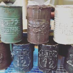 リメ缶/凸文字リメ缶/N's life/ナッツ缶 凸文字リメ缶 全てオリジナルです♪( ´…