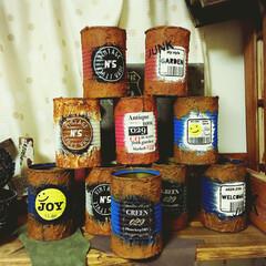 ジャンク/なっつ。/オリジナル/リメイク缶/リメ缶 オリジナルリメ缶。