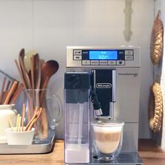 カプチーノ/コーヒー/デロンギ/フード/キッチン/キッチン雑貨/... 私の朝のお楽しみ。 デロンギのコーヒーマ…