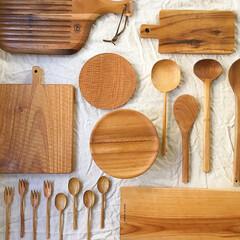 カッティングボード/カトラリー/器/うつわ/キッチン雑貨/雑貨/... 木のもの。あたたかみがあって 集めるとほ…