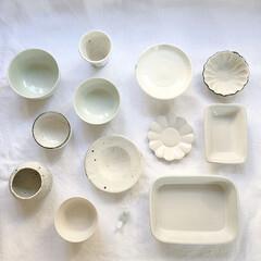 うつわ/器/キッチン雑貨/雑貨/お気に入り 白い器。毎日のお茶碗や湯のみ お皿など。…