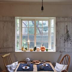 パウンドケーキ/手作りおやつ/おやつ/秋/ハロウィン/グルメ/... 窓辺のかぼちゃ達を見ながら食べたのは、や…