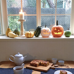 おもちゃかぼちゃ/かぼちゃ/ジャックオーランタン/秋/ハロウィン/DIY/... かぼちゃをくり抜いてジャック・オー・ラン…