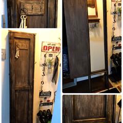 インテリア/家具/協働作業/セリア/扉付き鏡/DIY/... 念願の扉付き鏡 DIY✨✨ ずっーと欲し…
