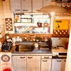 DIY/雑貨/ダイソー/インテリア/キッチン/リメイクシート 極狭 キッチンDIY✨✨ キッチンも リ…
