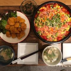 ちらし寿司/ひな祭り 🌸1日早い ひな祭り 🎎  主役の 娘が…