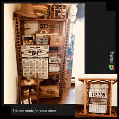 マイルーム/インテリア/アイアンラック/Seria/DIY/セリア マイルームの棚の中にラックを作りたくて …