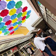 ショッピング/かさ/父の日の次の日/梅雨/おでかけ 今日は、学校公開🏫の振替休日 私と旦那と…