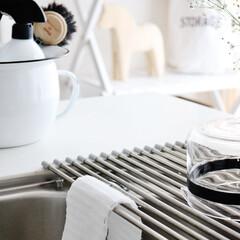 キッチン/アミタワシ/あみたわし/メッシュ/メッシュクロス/キッチンスポンジ/... キッチンに馴染む白色のアミタワシ。  清…