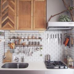 キッチン収納/ラベル/ラベリング/スパイスボトル/キッチン/DIY/... 前回投稿の、スパイスボトルのラベリング変…