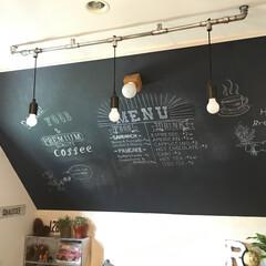 DIY/カフェ風/ヴィンテージ風/カフェ風インテリア/チョークボードペイント/壁紙屋本舗/...
