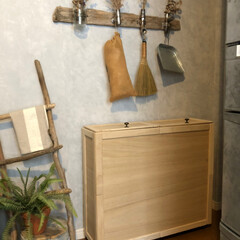 暮らしのアイデア/インテリア/収納アイデア/ゴミ箱/ダストボックス/DIY/... ダイニングキッチンの隅、子供部屋への入り…