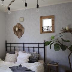 ウンベラータ/海外インテリア/ホテルライク/リゾートスタイル/流木インテリア/ボヘミアン/... 寝室のテキスタイルを模様替えしました。 …