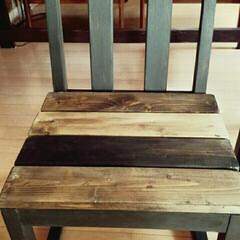 カリモク60/ペイント/DIY/椅子リメイク/テーブルリメイク ダイニングテーブル&チェアリメイク☆ 1…