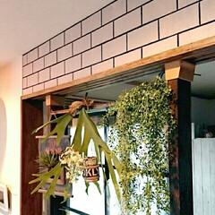 レンガ柄/壁紙ペイント/ローズガーデンカラーズ/ディアウォール DIYで壁をレンガ柄に♪ 壁紙を使わずに…