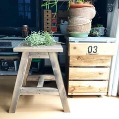 椅子 /ハンドメイド/DIY/雑貨/インテリア/家具/... 椅子を作りました! オールドウッドワック…