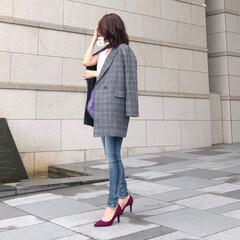 ファーバッグ/デニム/ジャケットコーデ/ファッション 秋になると着たくなるチェック柄♪  今年…