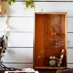時計/掛け時計/古材/男前インテリア/ハーバリウム/玄関/... 古材で掛け時計を作りました。 3月31日…