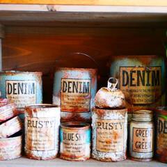 DIY/リメイク缶/リメ缶/多肉植物/ペイント/ミルクペイント/... リメイク缶を作り始めて4年。 ものづくり…(1枚目)