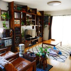 ラグ/ニトリ/リビング/男前インテリア/ソファー/オーダー家具/... ラグを変えました。ニトリのラグです。 子…