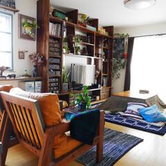 男前インテリア/家具/ソファー/リビング/オーダー家具 リビング。キッチン側から撮ってみました。…