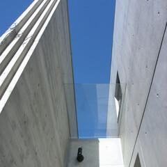 ガラス/庇/玄関庇/ポーチ/玄関ポーチ/アプローチ/... 玄関の前にはガラスの庇があります。 雨は…