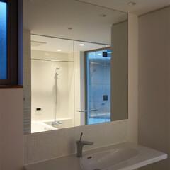 洗面器/洗面ボウル/カウンター/鏡/洗面室/浴室・風呂 ripple house 洗面化粧台  …