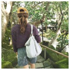鎌倉/大人カジュアル/キャップ/ボーダーコーデ/プチプラコーデ/ファッション/... 鎌倉散策したときのコーデです♡  ボーダ…