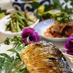 茄子の揚げ浸し/鯖塩焼き/LIMIAごはんクラブ/おうちごはんクラブ 今夜の夕飯です^ ^  今夜はお魚^ ^…(1枚目)