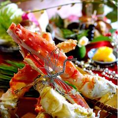 夕飯/タラバガニ/お正月2020/フォロー大歓迎 改めまして 新年明けましておめでとうござ…(1枚目)