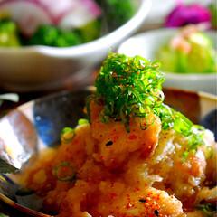 オデンの残り/ブロッコリーサラダ/みぞれ煮/フォロー大歓迎 こんばんは^ ^  今夜の夕飯です😊 今…