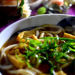 大根と鶏肉の煮物/酢の物/夕飯/リミアな暮らし/カレーうどん こんばんは^ ^  今日もお休みで好きな…