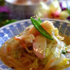 鶏そぼろ丼/長崎チャンポン/フォロー大歓迎 こんばんは^ ^ 今夜の夕飯です☘️ 白…