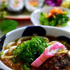 小松菜ナムル/食材整理/海苔巻き/カレーう/フォロー大歓迎 こんばんは^ ^ 今夜の夕飯です^ ^ …