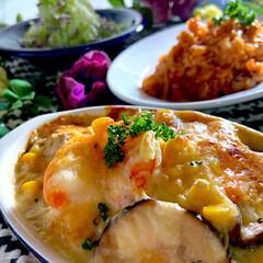 食材整理/チキンライス/野菜サラダ/グラタン/リミアな暮らし こんばんは^ ^  暖かな一日でした^ …
