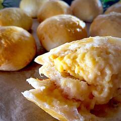 薄皮クリームパン/リミアな暮らし/手作りパン/オヤツ/豆乳クリーム/クリームパン 今日は、あっという間に時間が過ぎました^…