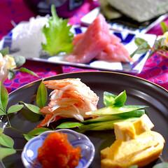 リミアな暮らし/献立/夕飯/よこわ/お味噌汁/手巻き寿司 こんばんは^ ^  今夜の夕飯です 今夜…