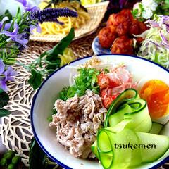 メニュー/献立/鶏チリソース/つけ麺/夕飯/おうちごはん/... こんばんは^ ^  今日もとても暑い一日…